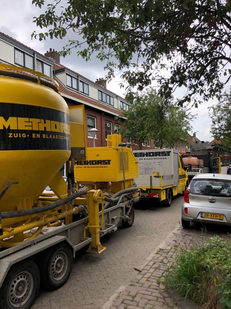 Project 245 woningen kruipruimtes uitdiepen afgerond te Nigellebuurt, Amsterdam.