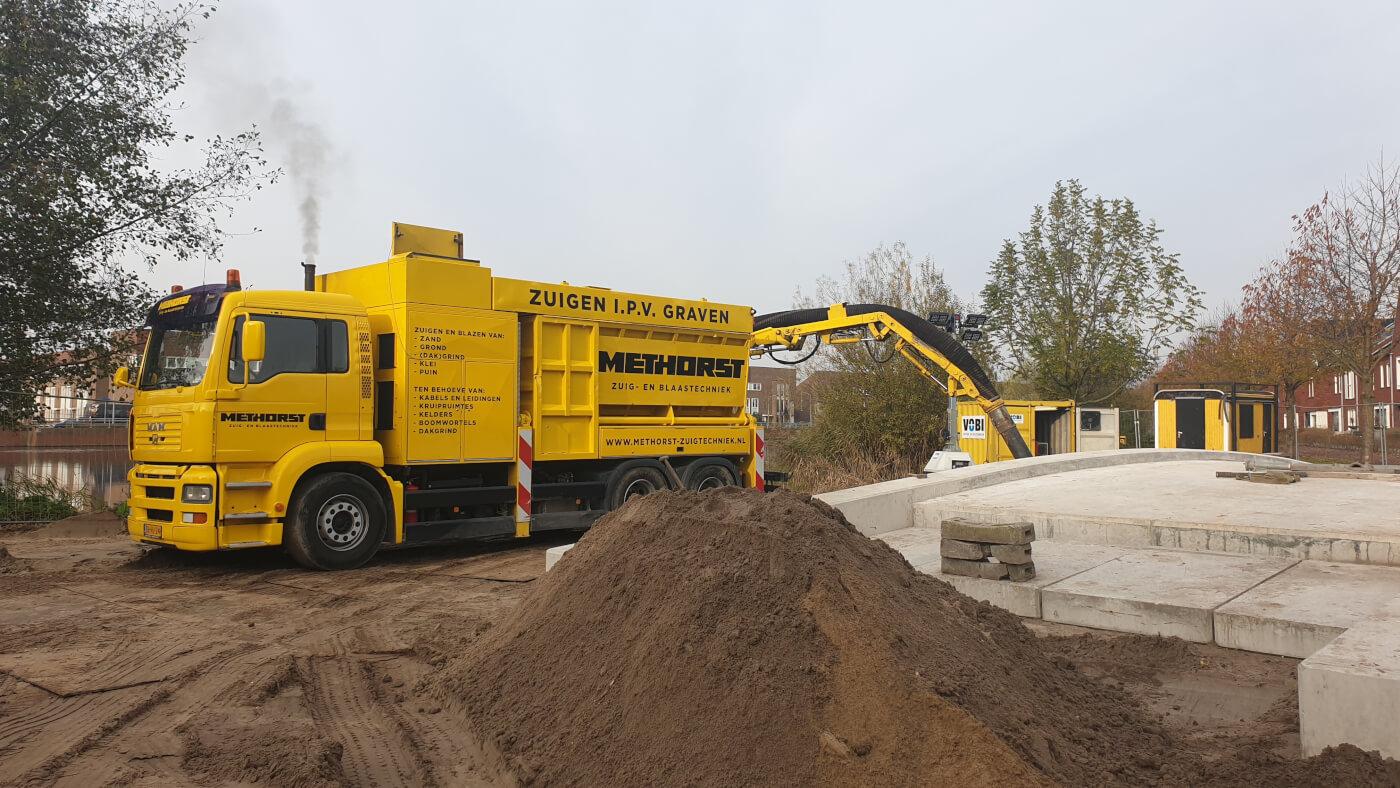 Zandzuigen in Veenendaal