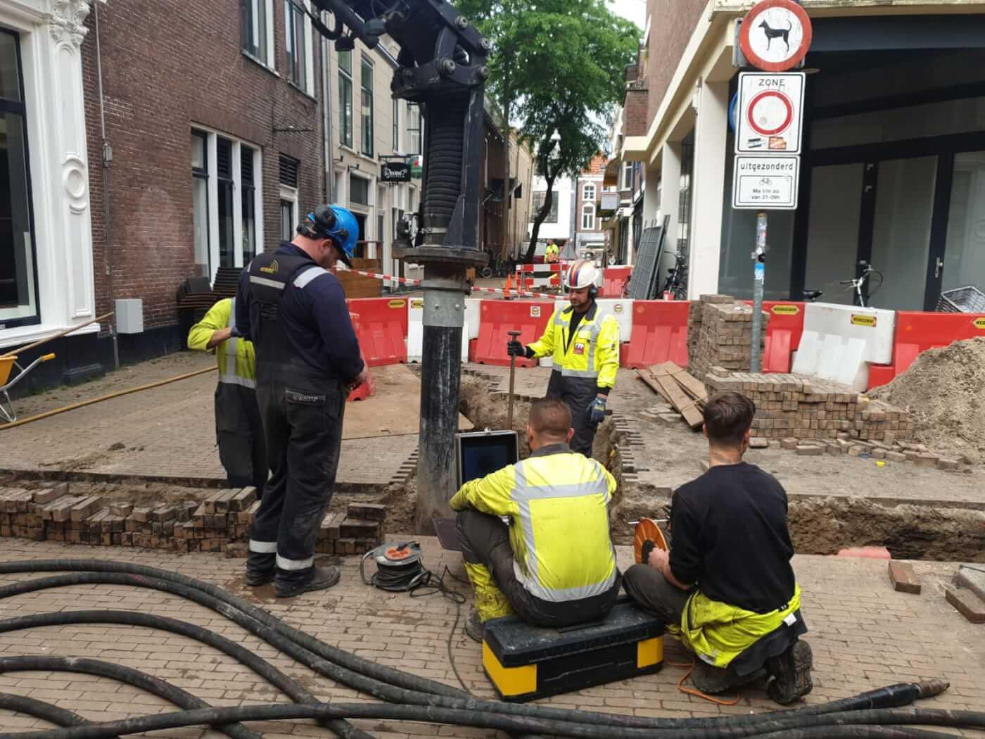 Grondzuigen Methorst Zuigtechniek Groningen - Van Voskuilen Woudenberg | Relinen gasleiding