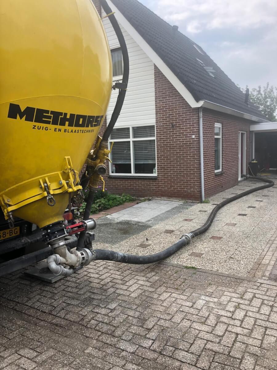 Kruipruimte ophogen zandblazen Methorst