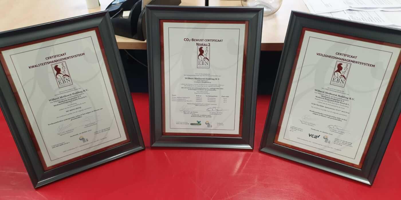 EBN certificaten Methorst