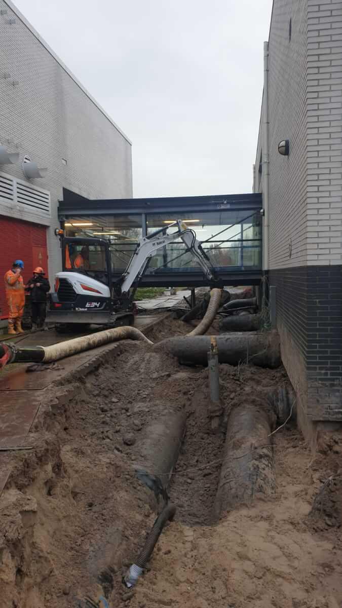 Waterleidingen vrijzuigen - Methorst Zuigtechniek - Oasen - Lexmond