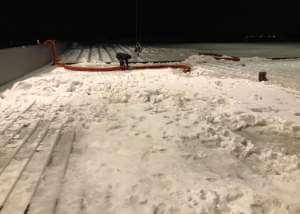 Sneeuw wegzuigen voor BINCX B.V. | Methorst Zuigtechniek