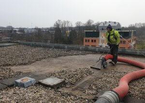 Verwijderen dakgrind - Methorst Zuigtechniek