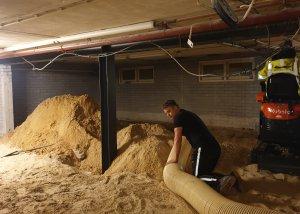 Zand zuigen uit souterrain - Methorst Zuigtechniek - Congrescentrum De Werelt