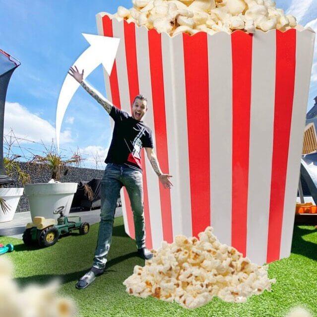 Grootste popcornbak ooit! Methorst Zuig- en Blaastechniek en Dutchperformante