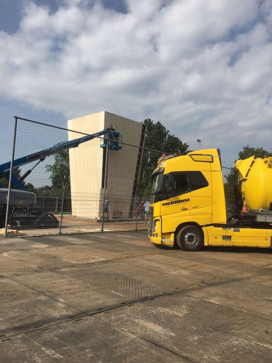 popcorn blazen WKZ Methorst Zuig- en Blaastechniek grootste bak popcorn ooit