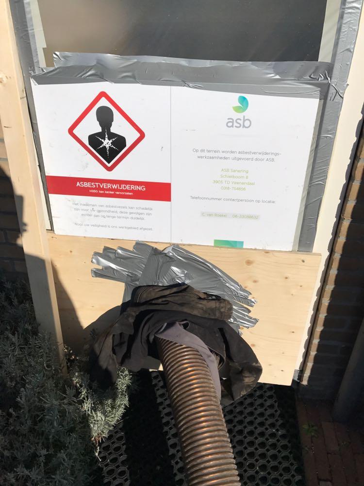 Asbest zuigen