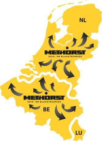 Methorst Zuigtechniek werkgebied