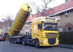 Schelpen blazen in Haarlem ten behoeve van isolatie